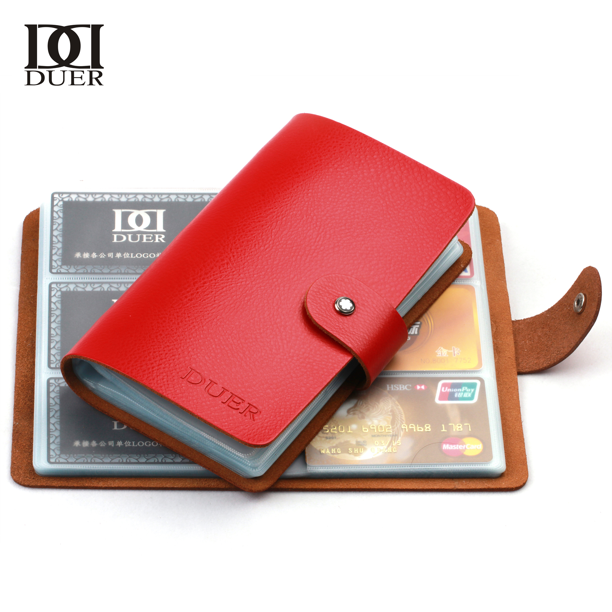 Duer business card book cowhide large capacity mens fashion duer business card book cowhide large capacity mens fashion commercial womens big card holder set card stock bag in card holder note holder from office colourmoves