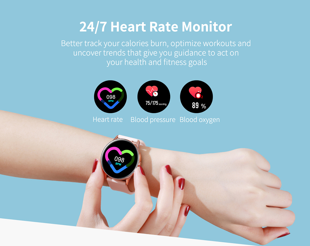 Women IP68 Waterproof Smart Watch for iPhone xiaomi LG with Bluetooth and Heart Rate Monitor Fitness Tracker 11