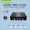 75dbm de alto ganho gsm 3g repetidor 900 MHz 2100 MHz UMTS WCDMA dual band sinal móvel impulsionador conjunto completo com a Antena e cabo