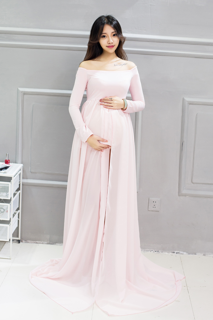 Compare prices on pink maternity dress online shoppingbuy low maternity women photography props cotton maternity maxi gown sexy maternity dress pink long floor dress for ombrellifo Gallery