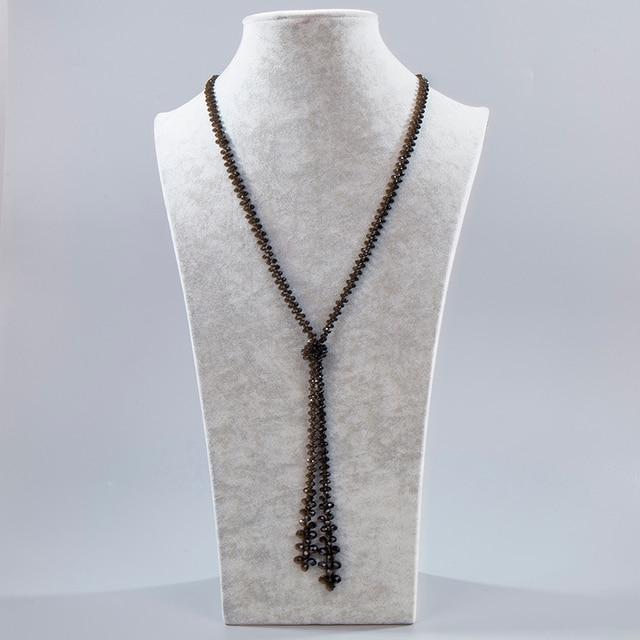 Ожерелье из нитей inkdew с красным кристаллом ручной работы