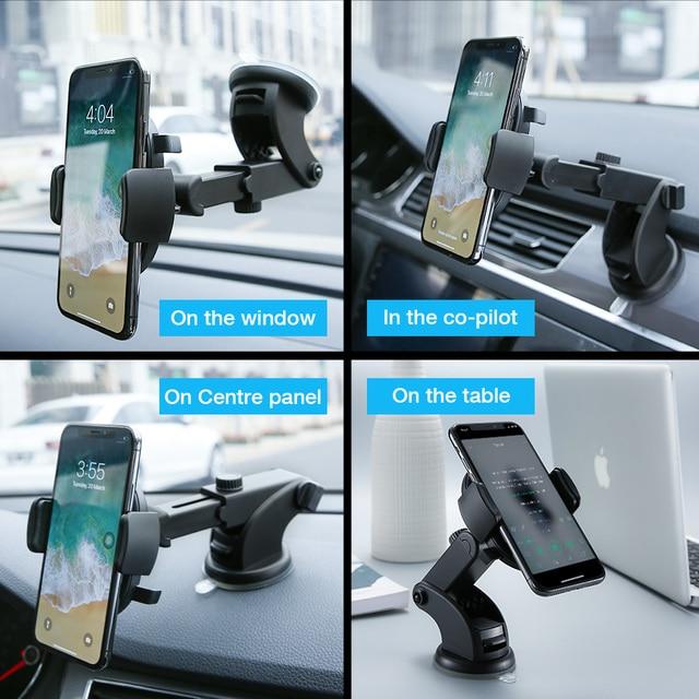 RAXFLY Luxury Car Phone Holder For iPhone 11 pro max  Windshield Car Mount Phone Stand Car Holder For Samsung s10 Telefon Tutucu 1