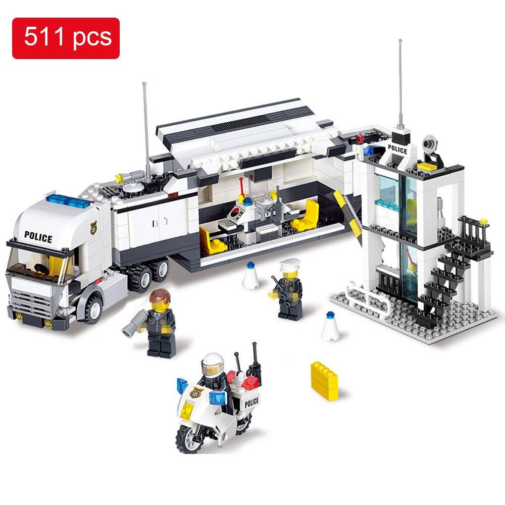 Galleria fotografica 511pcs Police Station Helicopter Building Blocks set Compatible <font><b>Legoed</b></font> <font><b>City</b></font> enlighten Bricks Toys Birthday Gifts For Kids