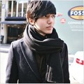 Men autumn and winter thickening casual faux long scarf male's fashion scarves free shipping