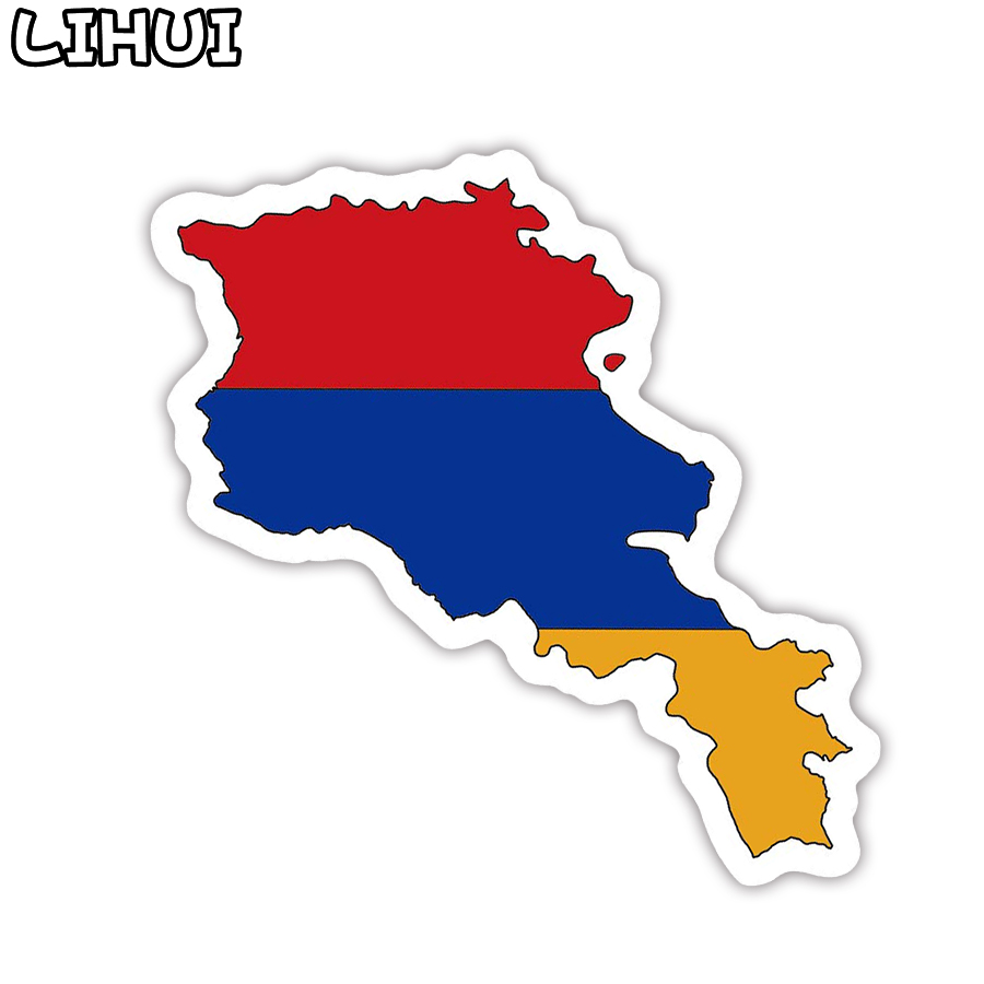1 PCS Armenia Flag Sticker Toys For Children Countries Map Travel Stickers To DIY Scrapbooking Suitcase Luggage Laptop Car Motor