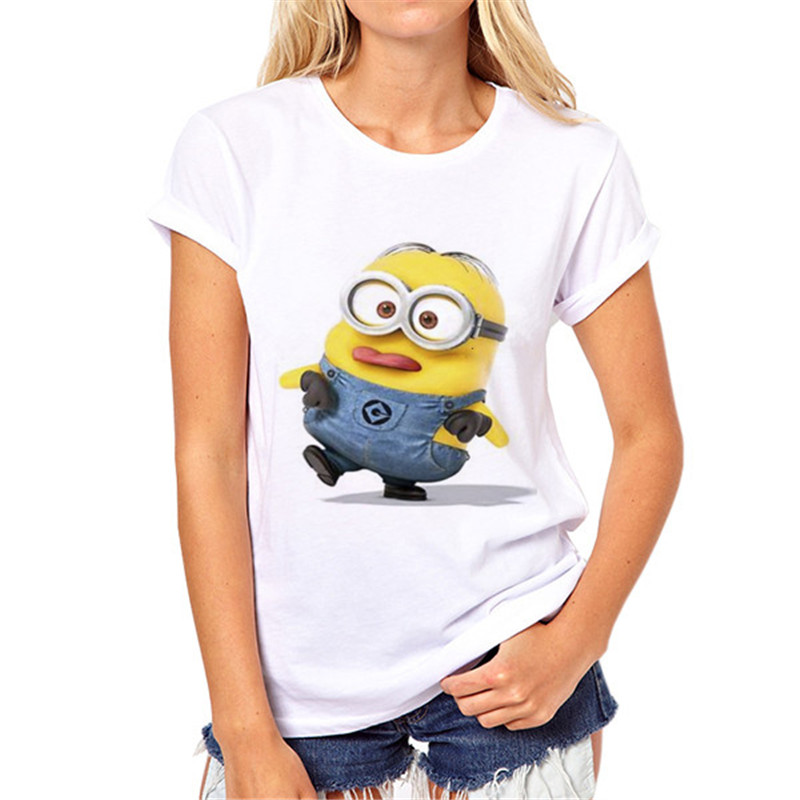 Summer Fashion Despicable Me Minions T-shirts for Women