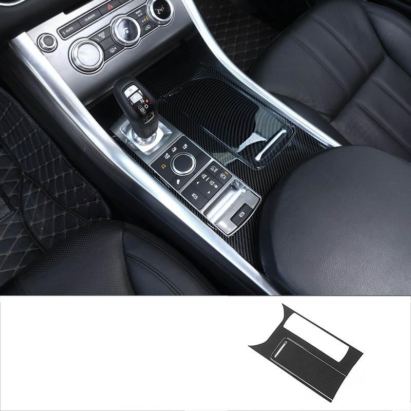lsrtw2017 abs carbon fiber car gear panel trims for range rover sport 2014 2015 2016 2017 2018 2019 L494