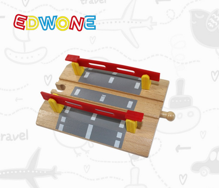 wooden double crossing rail Railway Pack fit Thomas and Brio Wooden Train Educational Boy Kids Toy