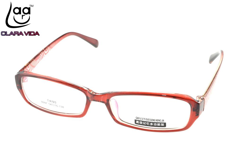 ∞TR90 Ultra Light Red Pattern Womens Designer Glasses Frame Custom ...