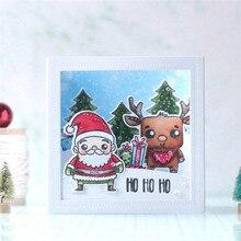 Eastshape Christmas Snowman Stamps and Dies Scrapbooking Santa Deer Clear Stamp for Card Making Metal Cutting Embossing