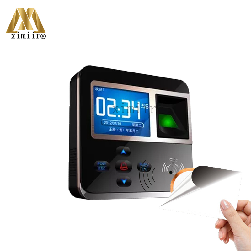 Realand 3 inch Color Screen TCP/IP USB Fingerprint Time Attendance And Access Control System With 13.56MHZ MF Card Reader F211 hot selling 3 high speed good quality 30000 user capacity color screen time attendance time clock m200 with tcp ip rj45