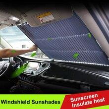 65cm/70cm Car Retractable windshield Sun Shade Block Sunshade Cover Front Rear Window Foil Curtain For SUV MPV Solar UV Protect датчик delphi 2808 6011 mpv suv