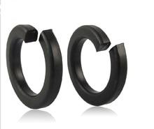 1000pcs/Lot M2 Spring Washer Grade 8.8 Carbon Steel Black Split Lock Washer Spring Gasket Cushion Pad Ring