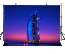 150x220cm Famous Sailing Hotel Backdrop Dubai Beautiful Photography Background