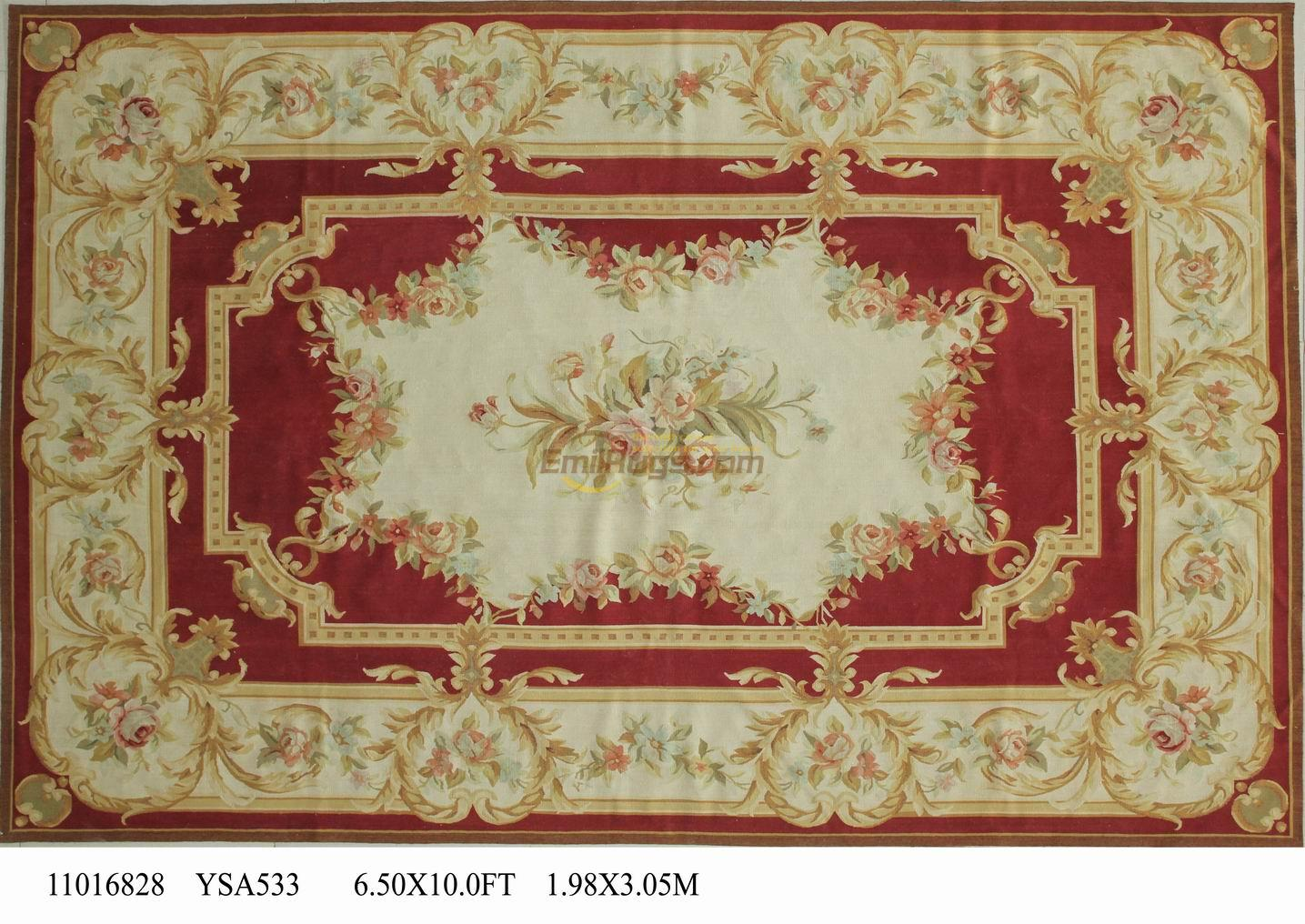 wool carpet french aubusson rugs 198cmx308cm 65u0027x 101u0027 camel large side blue - Aubusson Rugs