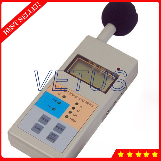 SL-5818 Digital Sound level meter price with Decibel Monitor Tester 40-130dB sound meter sl 5856 40 125db free shipping