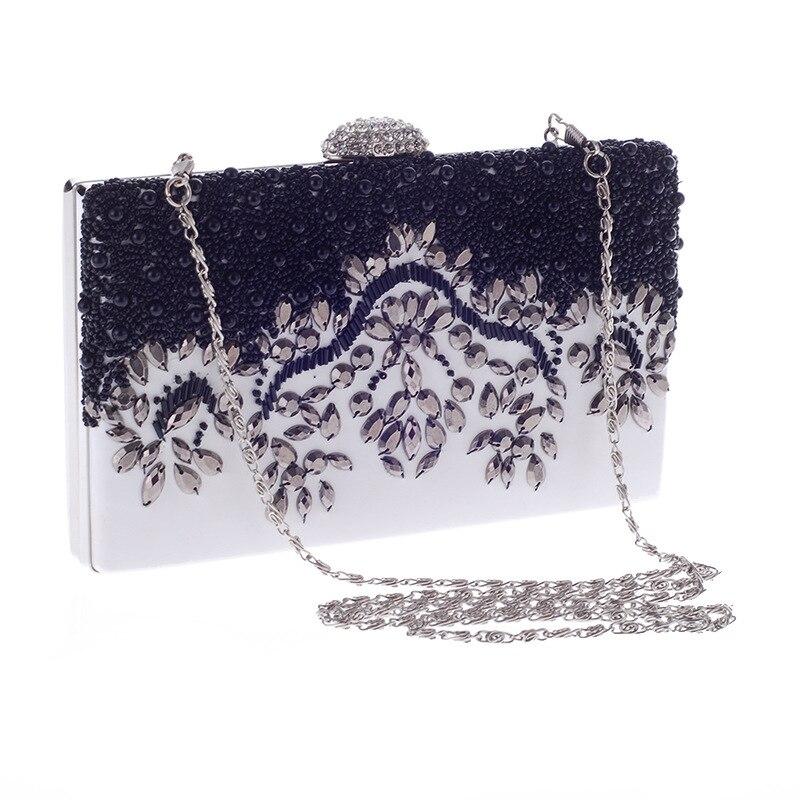 Brand Luxury Shiny Diamond Evening Bag Women Chain Purse Fashion Crystal Acrylic Clutches Banquet Socialite Ladies Handbag Sac