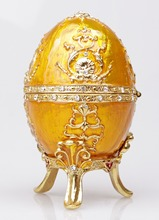 The Petroika Larissa Faberge-Style Enameled Egg Easter and Chirstmas Gift Box for Women