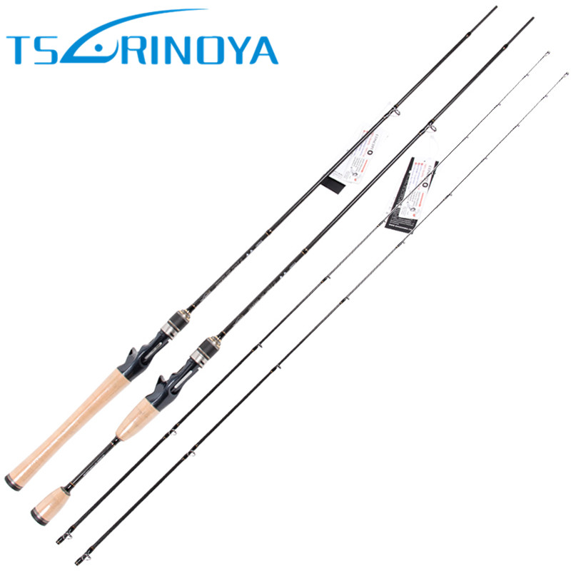 Tsurinoya 2 Secs Baitcasting Fishing Rod 1.95m/2.13m ML/M Fast Carbon Lure Rods FUJI Accessories Pesca Fishing Tackle Bass Stick trulinoya 2 13m power ml baitcasting fishing rod 2secs 6 14g carbon bass lure rods fuji accessories action mf pesca stick tackle