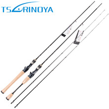 Tsurinoya 2 Secs Baitcasting Fishing Rod 1.95m/2.13m ML/M Fast Carbon Lure Rods FUJI Accessories Pesca Fishing Tackle Bass Stick