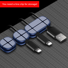 2019 Cable Organizer Flexible Silicone USB Cable Winder Wire Cord Management Cable Clip Holder For Mouse Headphone Earphone(China)