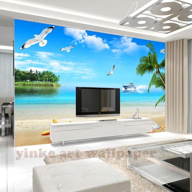 Fototapete schlafzimmer meer  Benutzerdefinierte wandbild fototapete 3d wandbilder Meer sansbeach ...