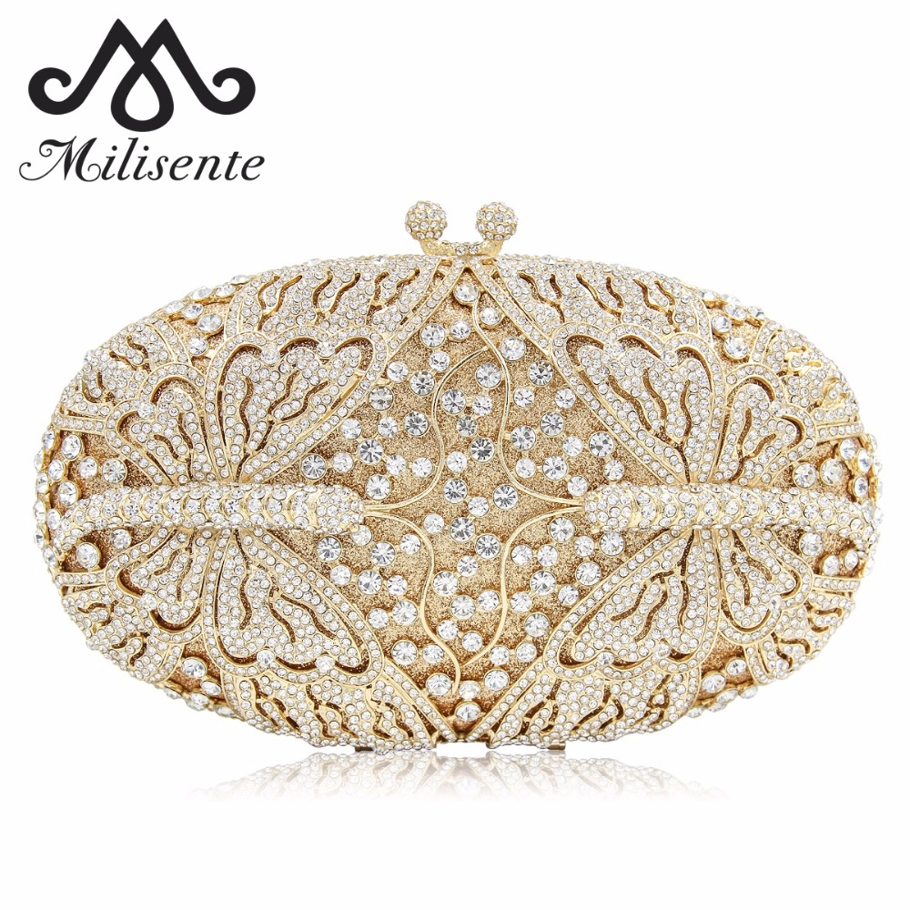 Milisente Women Dragonfly Shape Clutch Luxury Crystal Evening Bags Female Clutches Wedding Purse Party Bag With Long Chain mystic river designer pearl bags circle shape beaded clutches women wedding bag with chain lady evening clutch purse