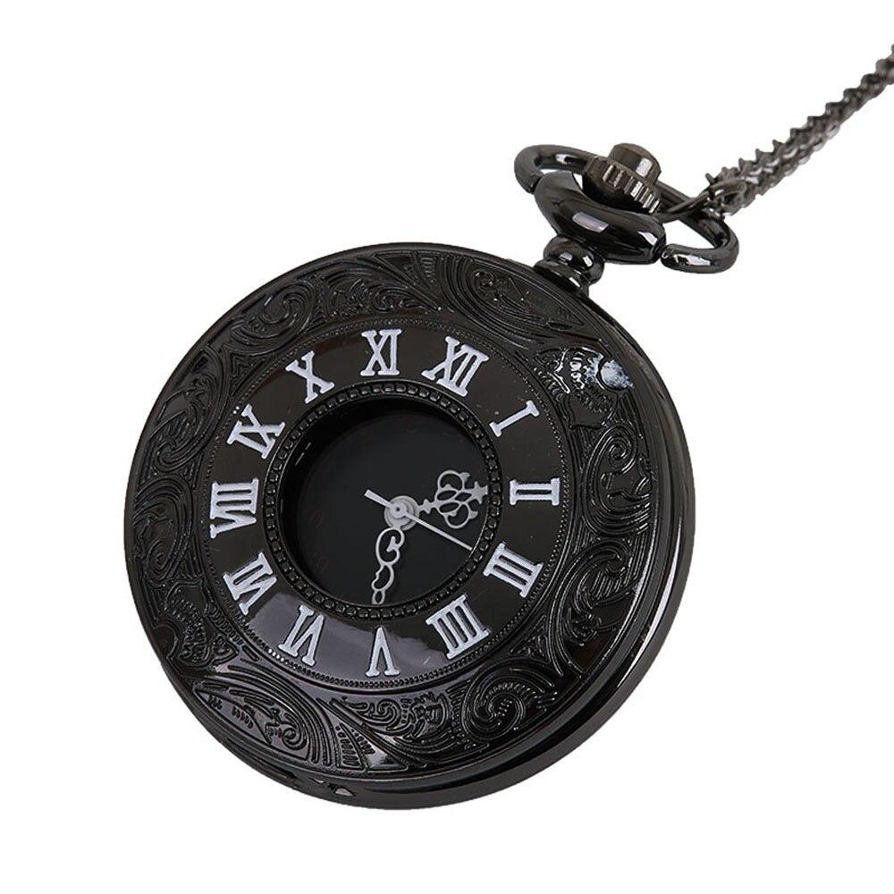 Chain Retro Roman Numerals Pocket Watch Necklace For Grandpa Dad Gift Reloj De Bolsillo Reloj De Bolsillo Reloj Enfermera Relgio