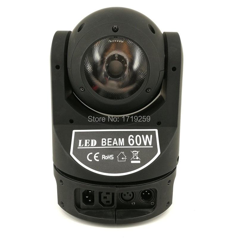 4pcs/lot LED Mini Moving Head 60W Super Beam Light Good for Disco Infinite Moving Head Lighting Fast Shipping super light tiny qx80 80mm mini 4 axle
