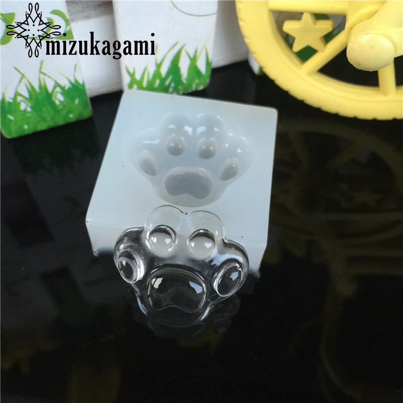 1pcs UV Resin Jewelry Liquid Silicone Mold Dog Foot Print Silicone Charms Molds For Silicone Resin Mold For Jewelry Making