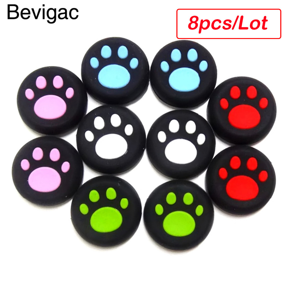 Bevigac 8pc Analog Controller Thumb Stick Grip Cap Cover for Sony PS4 PlayStation Play Station PS3 PS 4 3 Microsoft Xbox One 360
