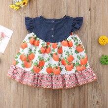 Little Girl Sister Matching Pumpkin Dresses