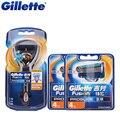 Gillette fusion proglide originais flexball 1 alça + 9 lâmina de barbear lâminas de barbear para homens barbeador