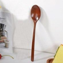 Прямая поставка, деревянная ложка, вилка, Бамбуковая кухонная посуда, инструменты для приготовления супа, чайная ложка, посуда, кухонные инструменты для приготовления пищи