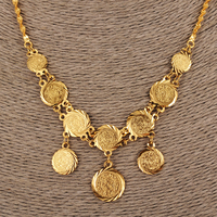 Bangrui Islam Coin Chain Jewelry Arab Necklace Gold Color Africa Middle East Metal Coin Israel Turkey