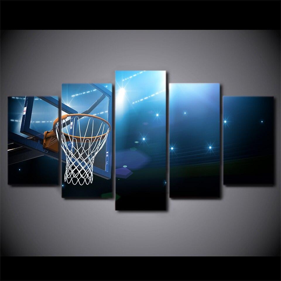 HD impreso 5 unidades lienzo canasta de baloncesto objetivo pintura ...