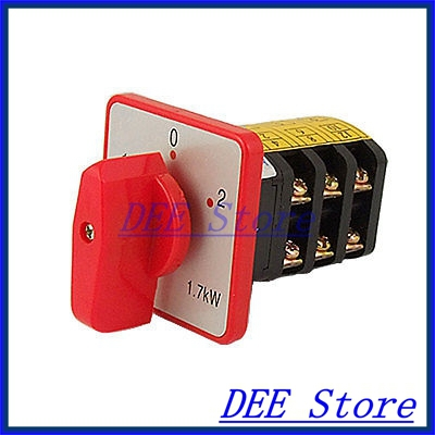 Universal 3 Position Selector Cam Switch AC 380V 10A 660v ui 10a ith 8 terminals rotary cam universal changeover combination switch