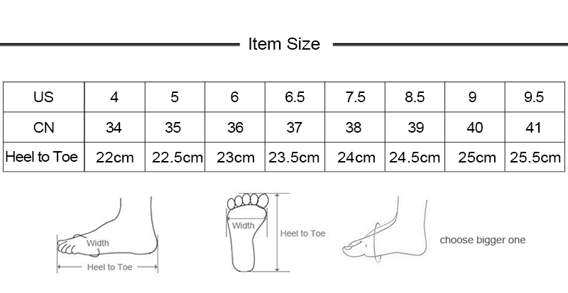new size info