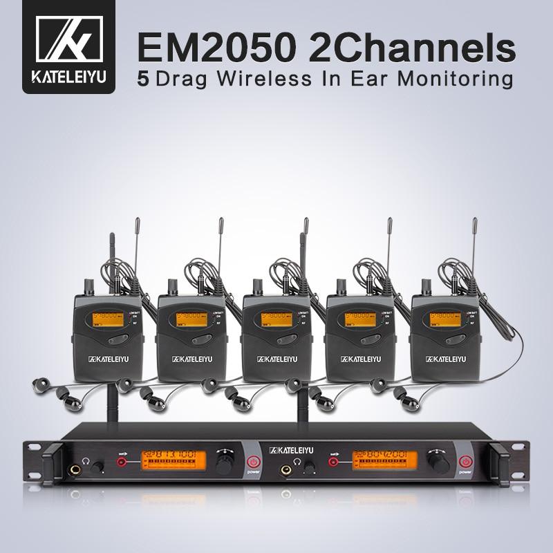 Wireless in ear Monitor profession System 5 ear monitoring systems wireless stage monitor system IEM 5