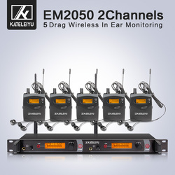 Wireless in ear Monitor profession System 5 ear monitoring systems wireless stage monitor system  IEM 5 bodypack monitor
