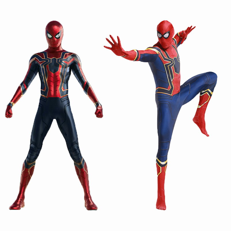 New 2018 Premium Anime Superhero cosplay Cosplay Costume Ball Spider-Man Iron Man Warrior Tights Return to Civil War Avengers 3
