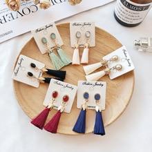 CXW Free shipping Six Bohemian gold long-fringed pendant earrings for womens fashion retro ethnic tassel dangle T02