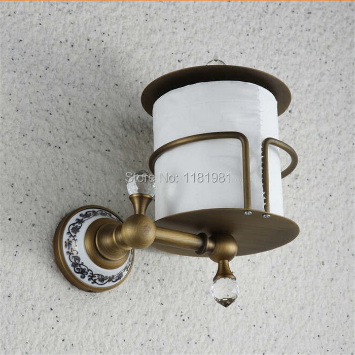 Toilet paper holder toilet paper roll holder carton Continental antique brass bathroom toilet tissue box compartment  A51009  the paper carton wall plastic roll plastic creative paper towel box paper market box carton
