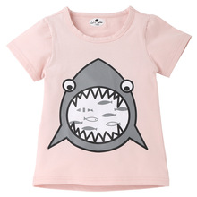 2019 summer new children t shirt baby shark clothes boys and girls t-shirt short sleeve cotton casual top kids clothes 2-8years цена