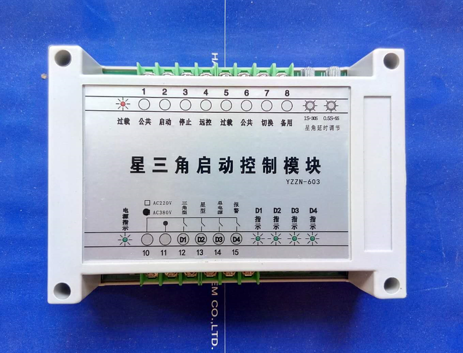 Star Delta starts high power equipment controller double delay wiring is simpler AC220VStar Delta starts high power equipment controller double delay wiring is simpler AC220V