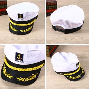 Image 2 - 大人ヨットボート船セーラーキャプテンコスチュームハットキャップ海軍海兵提督ボートスキッパー船セーラーキャプテン男性の女性のため