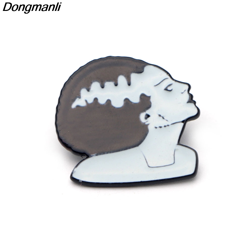 P2310 Dongmanli 20pcs lot wholesale Bride of Frankenstein Lapel Pin Enamel Pins and brooches Backpack Bag