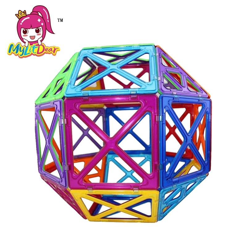 MylitDear 26Pcs Big Size Magnetic Murstein Square Triangle Parts - Bygg og teknikk leker - Bilde 2