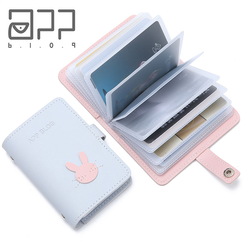 APP BLOG 24 Slots Card Holder Case Bags Wallet Passport Cover For Femme Carteira Mujer