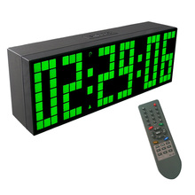 CHKOSDA Office Electronic Desk Clock Moment Timer Weather Station Stopwatch Clock Remote Control Digital Battery Wall Clocks